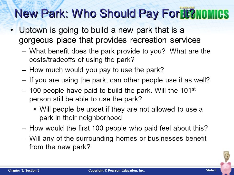 New Park: Who Should Pay For It