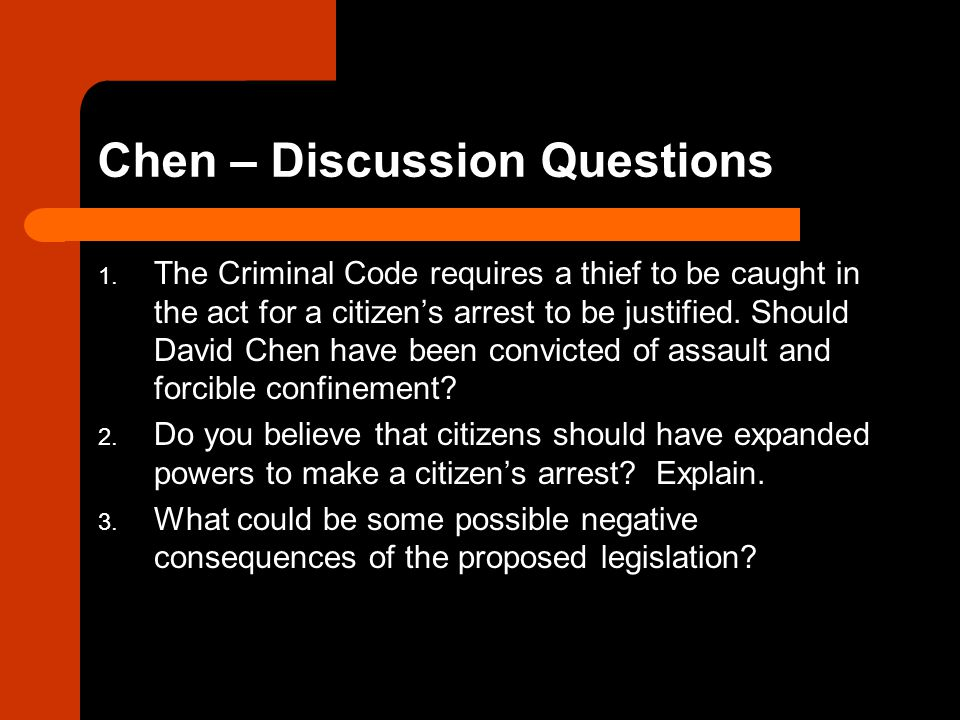 Chen – Discussion Questions