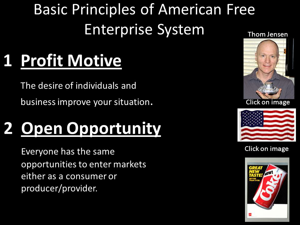 Basic Principles of American Free Enterprise System