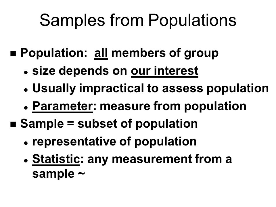 Samples from Populations