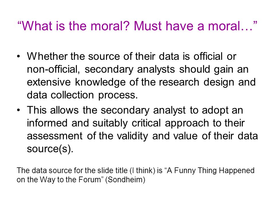 What is the moral Must have a moral…