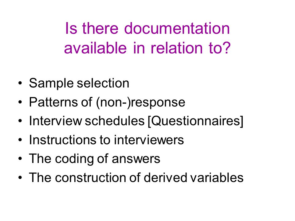 Is there documentation available in relation to