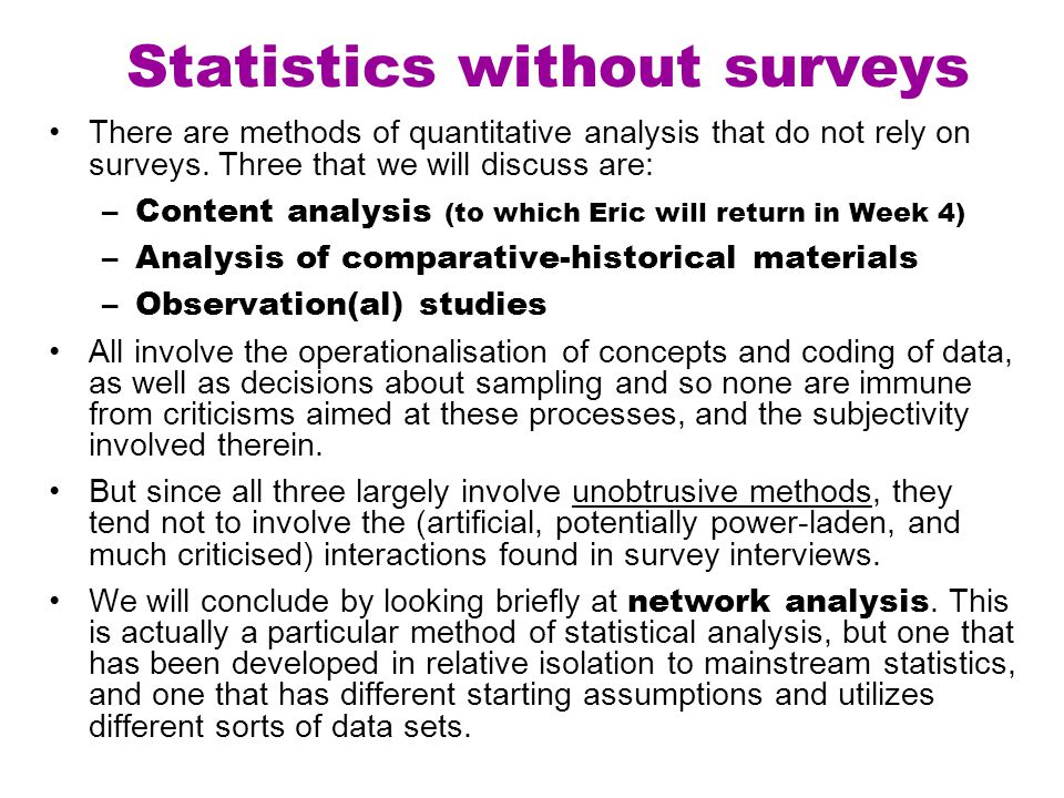 Statistics without surveys