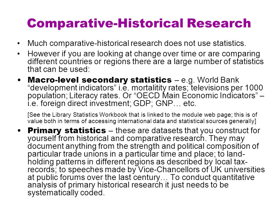 Comparative-Historical Research