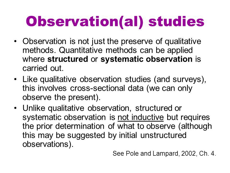 Observation(al) studies