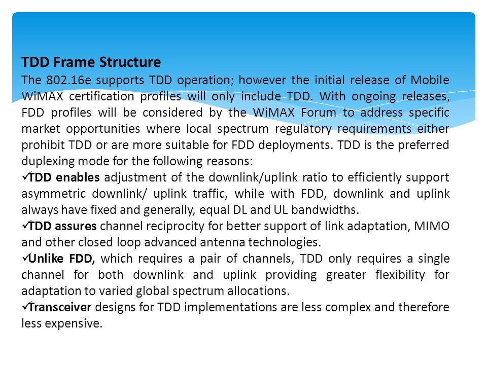 TDD Frame Structure