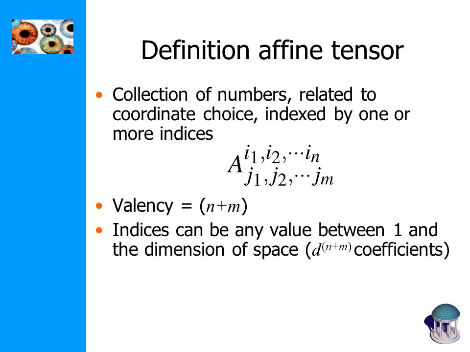 Definition affine tensor