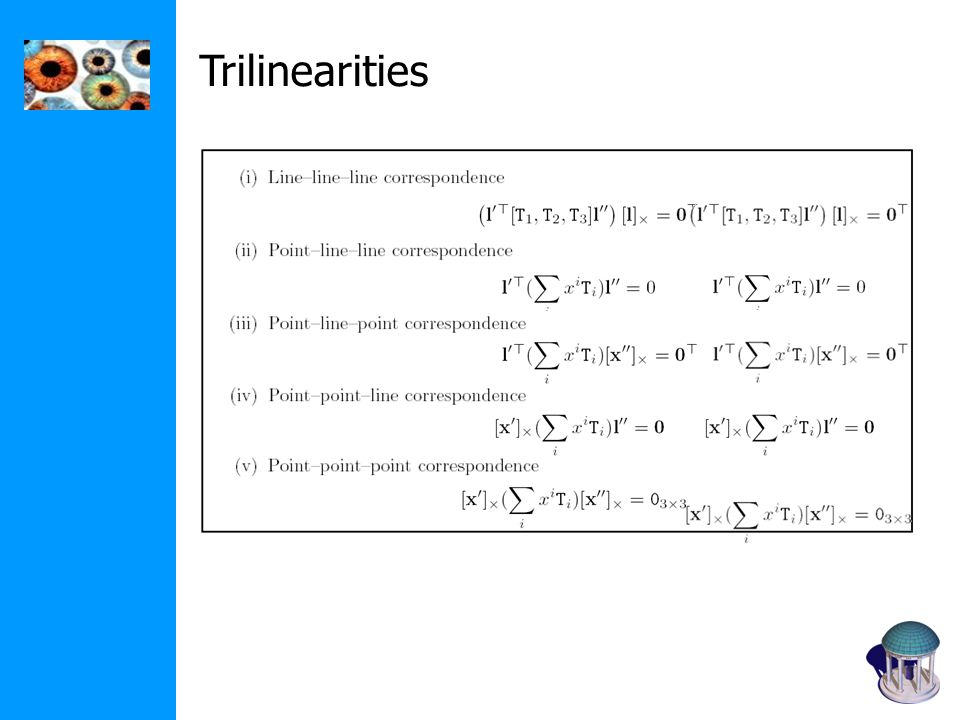 Trilinearities