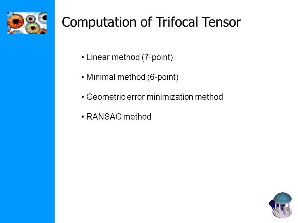 Computation of Trifocal Tensor