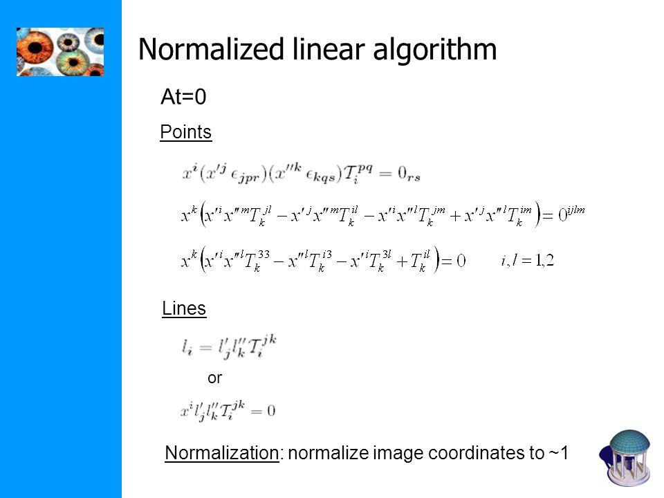 Normalized linear algorithm
