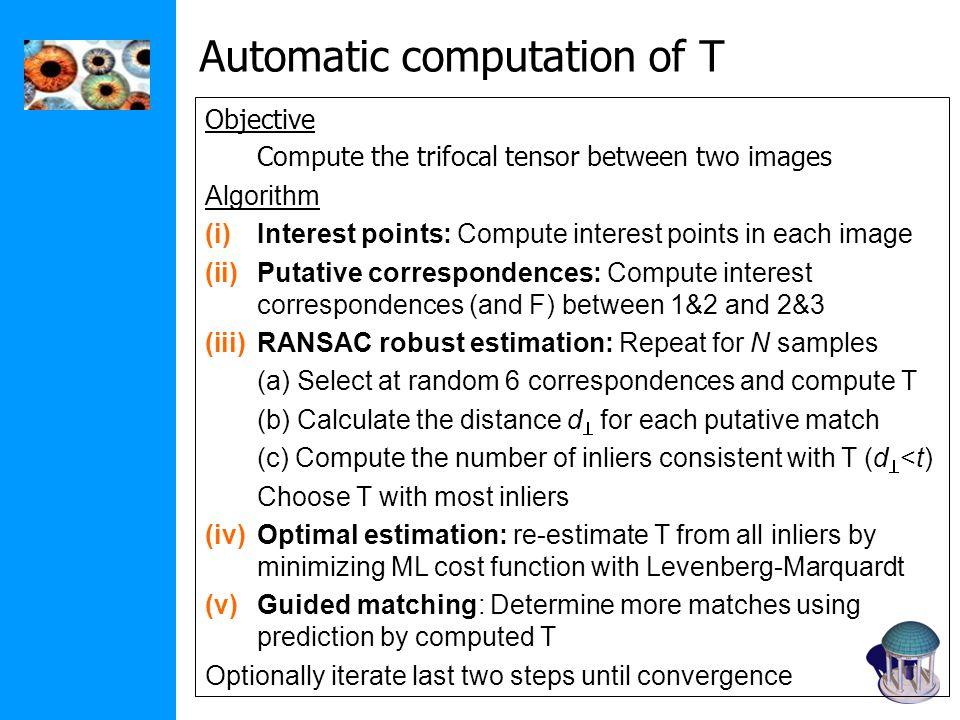 Automatic computation of T