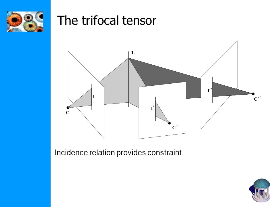 The trifocal tensor Incidence relation provides constraint