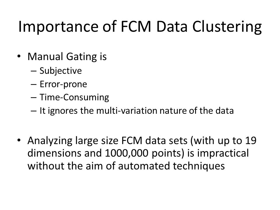 Importance of FCM Data Clustering