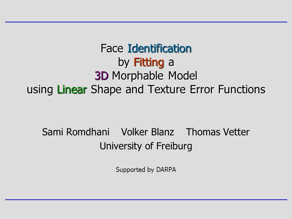 Face Identification by Fitting a 3D Morphable Model using Linear Shape and Texture Error Functions
