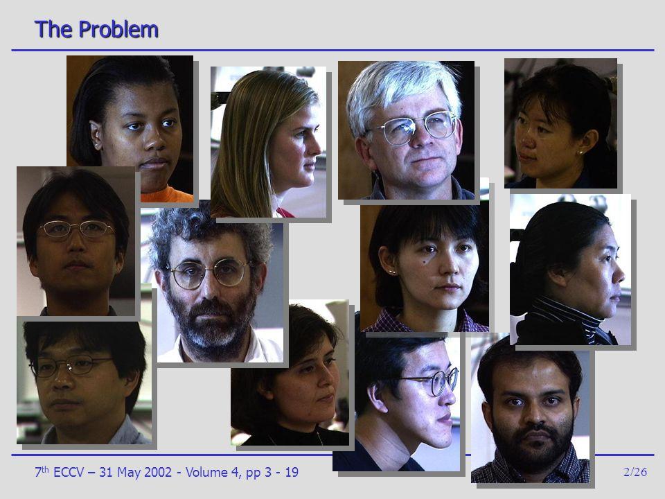 The Problem 7th ECCV – 31 May 2002 - Volume 4, pp 3 - 19