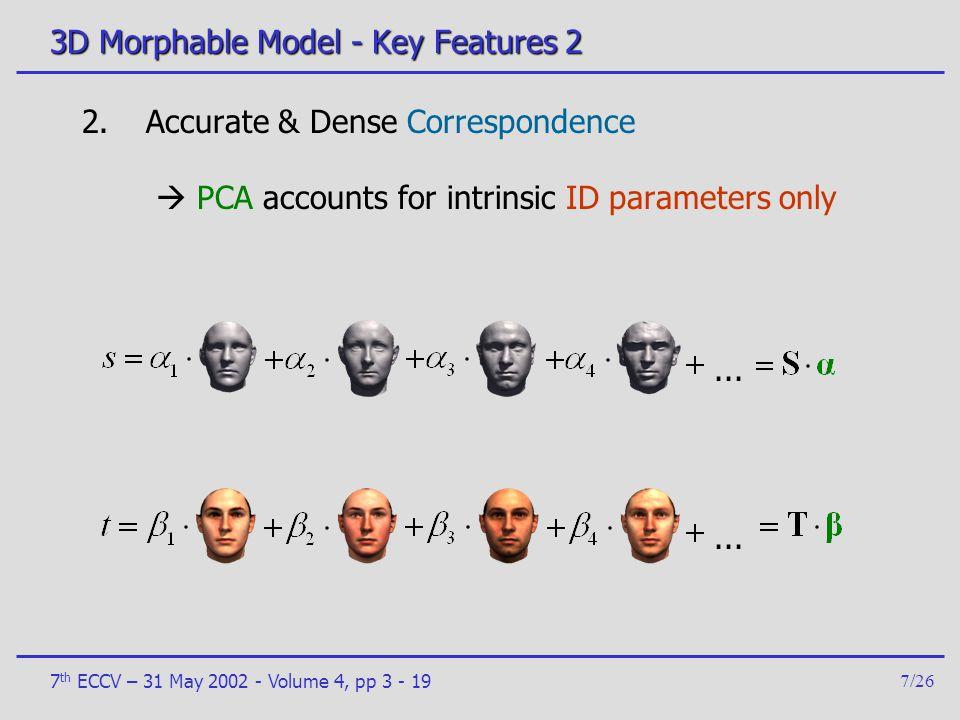 3D Morphable Model - Key Features 2