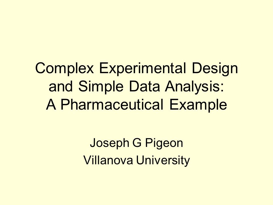 Joseph G Pigeon Villanova University