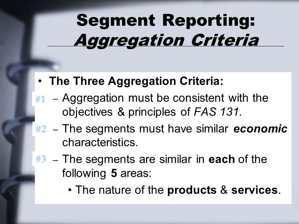 Segment Reporting: Aggregation Criteria