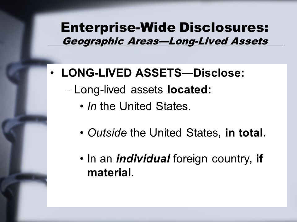 Enterprise-Wide Disclosures: Geographic Areas—Long-Lived Assets