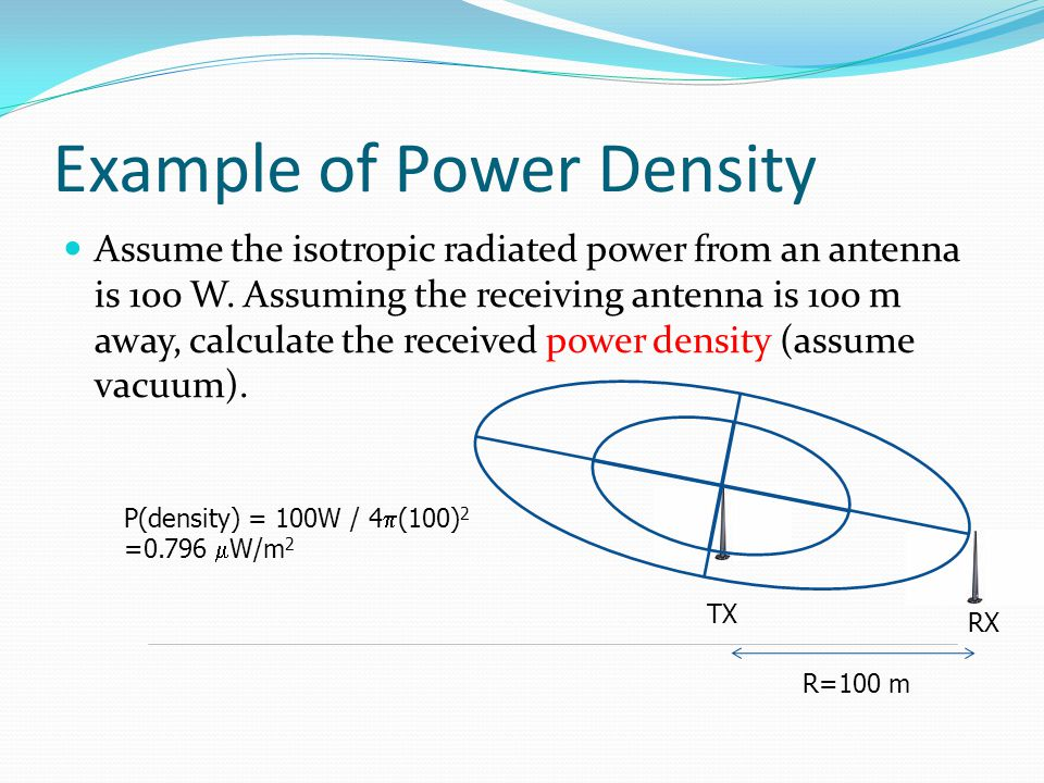 Example of Power Density