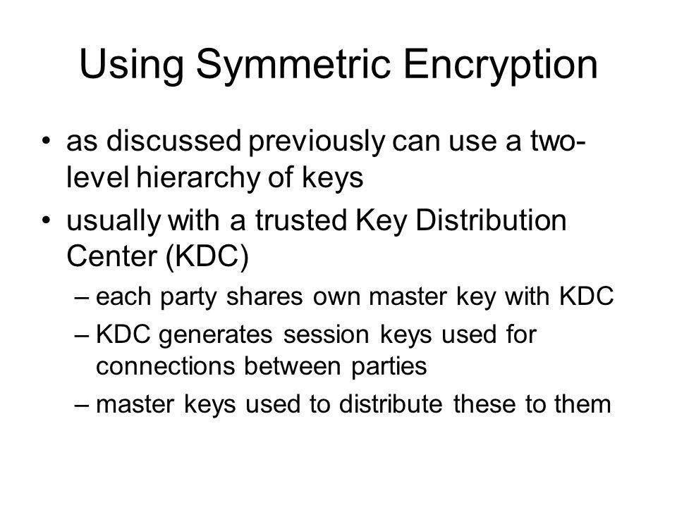 Using Symmetric Encryption