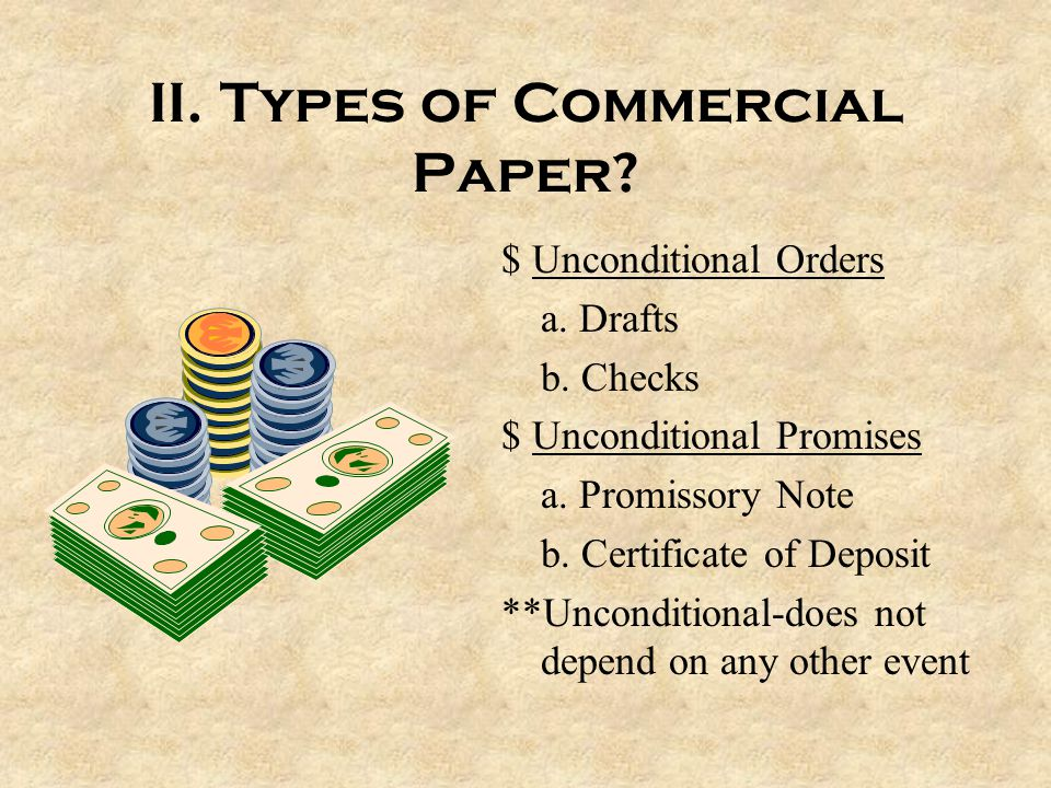 II. Types of Commercial Paper