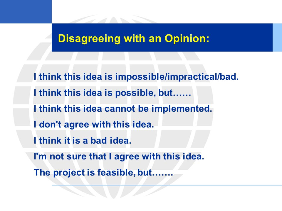 Disagreeing with an Opinion: