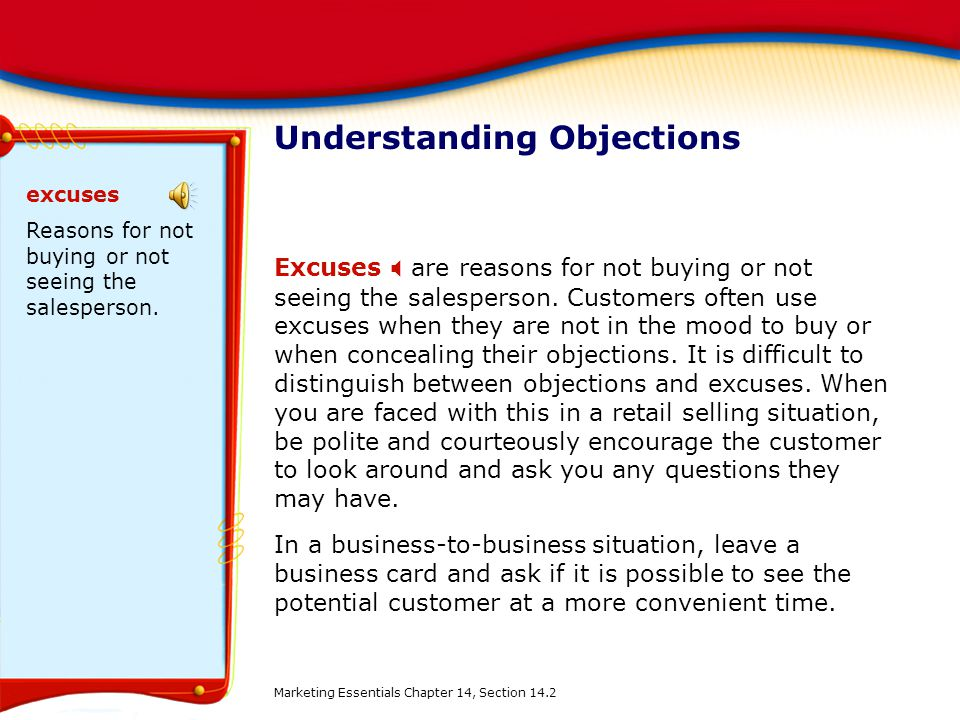 Understanding Objections