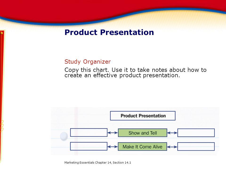 Product Presentation Study Organizer