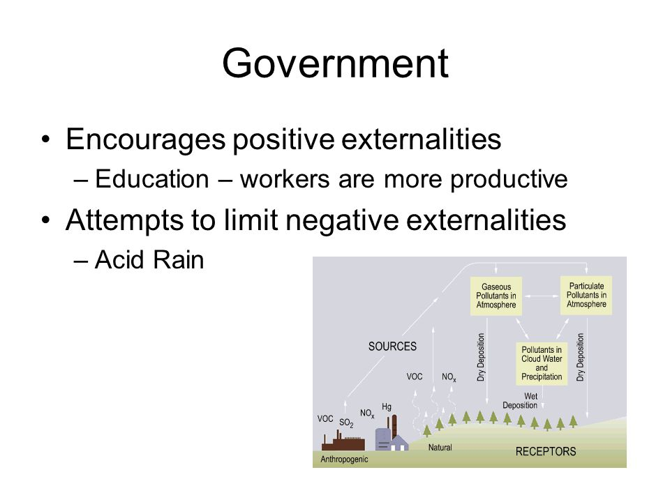 Government Encourages positive externalities