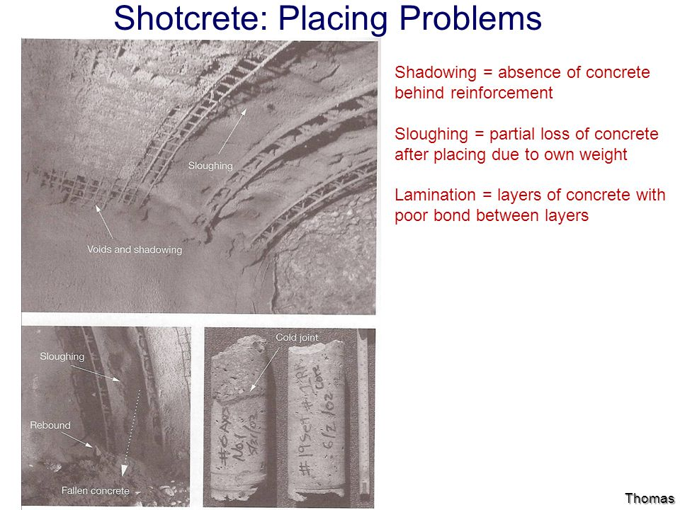 Shotcrete: Placing Problems
