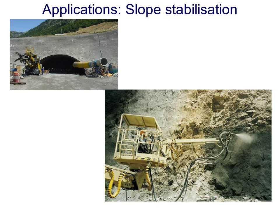 Applications: Slope stabilisation
