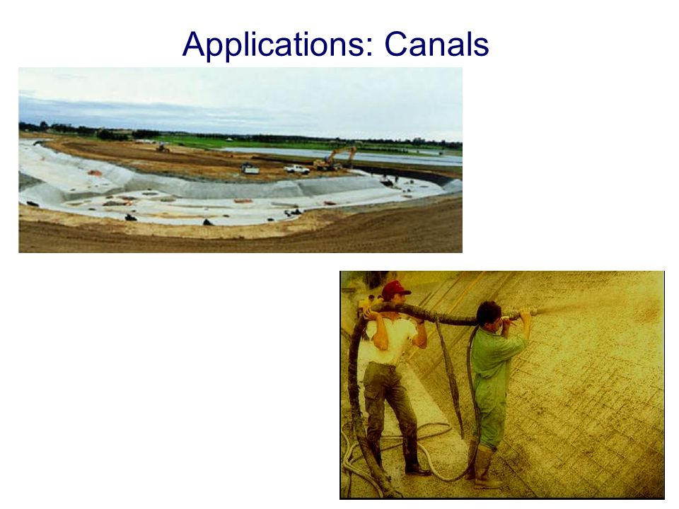 Applications: Canals
