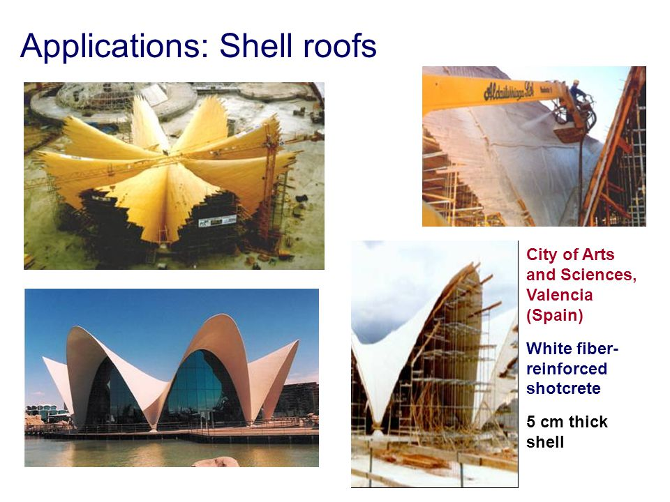 Applications: Shell roofs