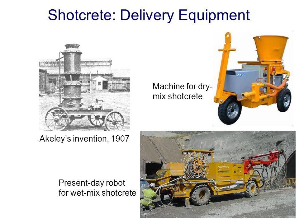 Shotcrete: Delivery Equipment