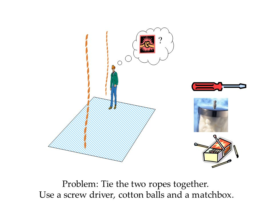 Problem: Tie the two ropes together.