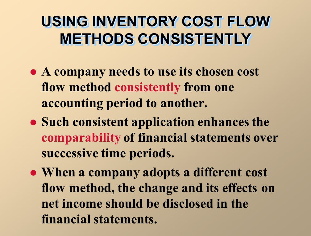 USING INVENTORY COST FLOW METHODS CONSISTENTLY