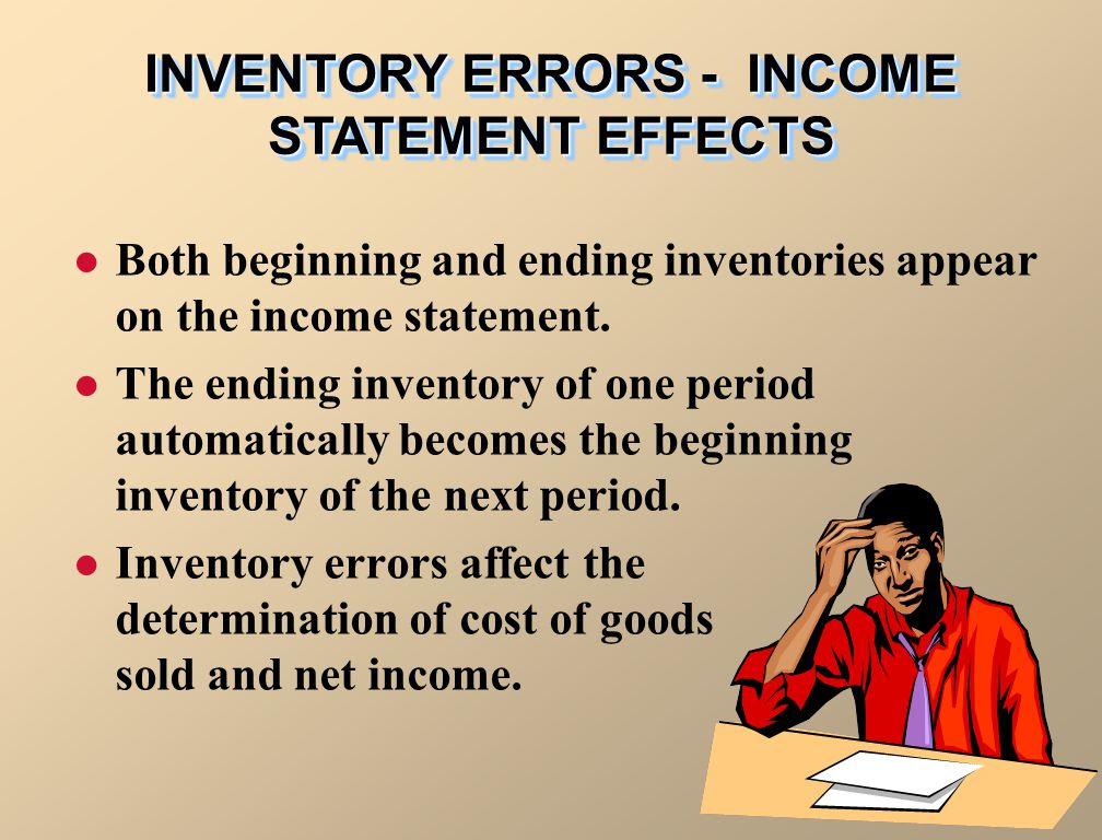 INVENTORY ERRORS - INCOME STATEMENT EFFECTS