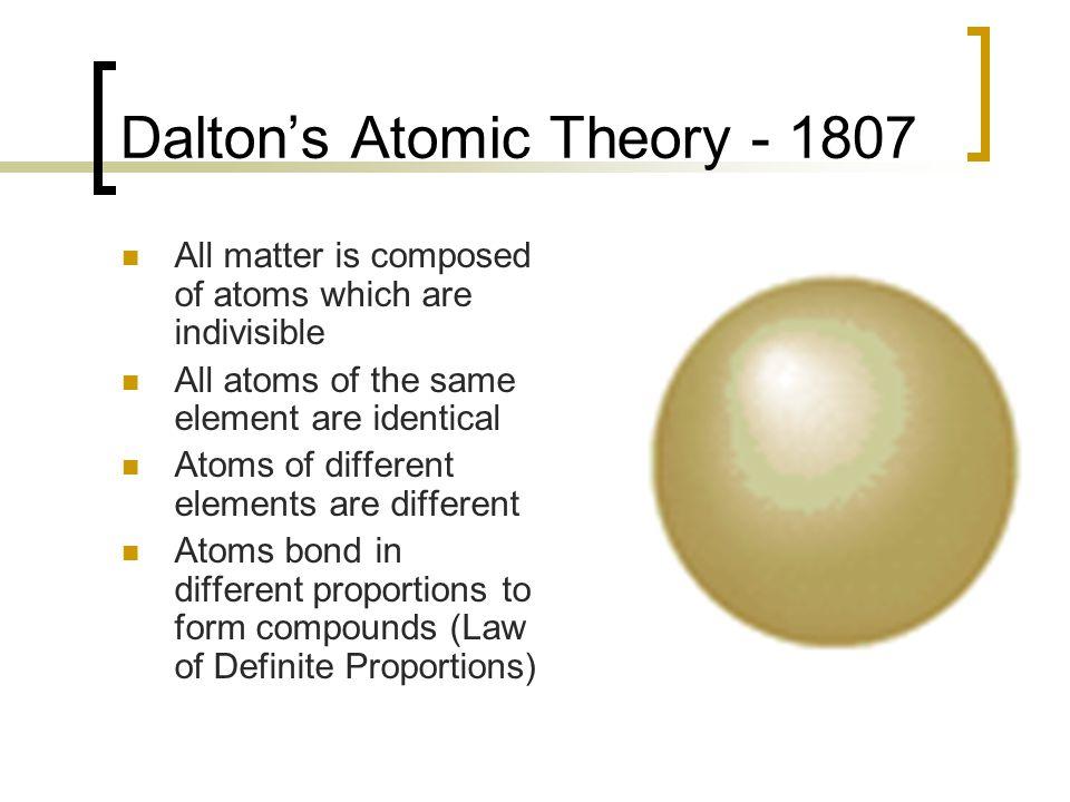 Dalton's Atomic Theory - 1807