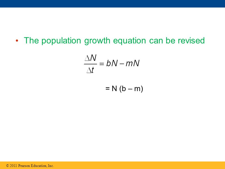 The population growth equation can be revised