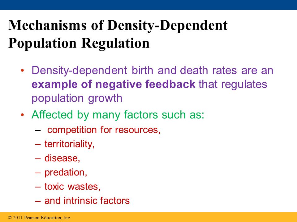 Mechanisms of Density-Dependent Population Regulation
