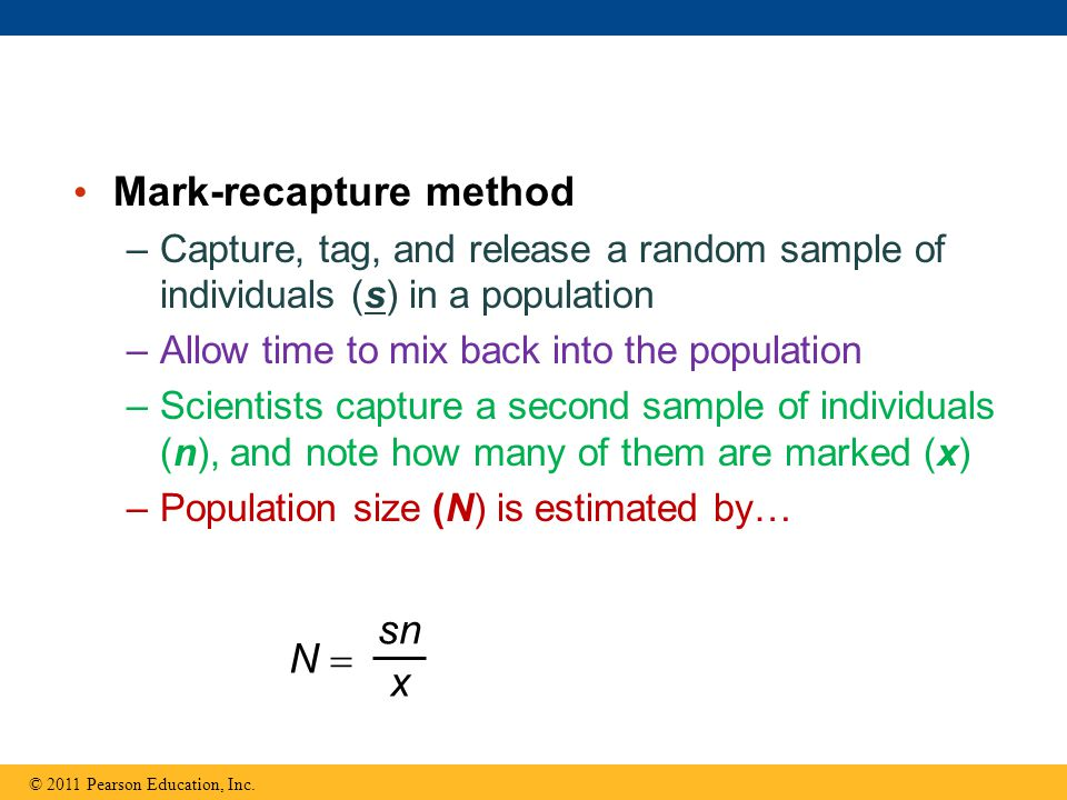 Mark-recapture method