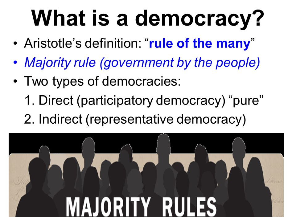 a discussion of the aristotelian view of democracy