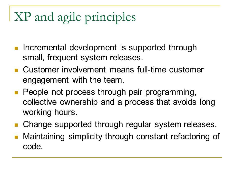 XP and agile principles