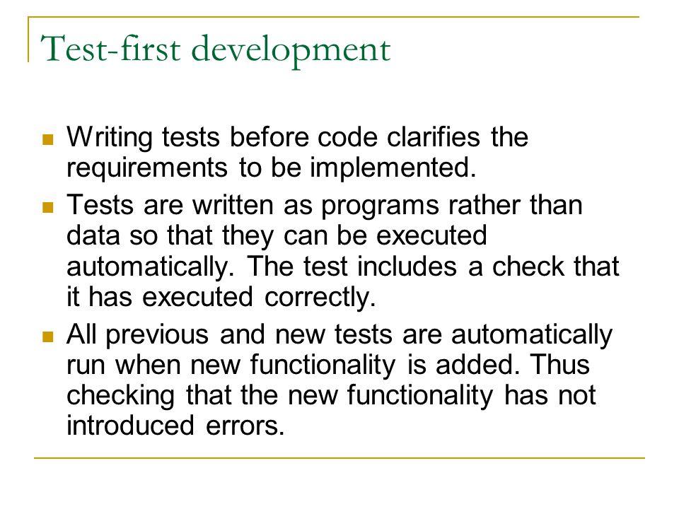 Test-first development