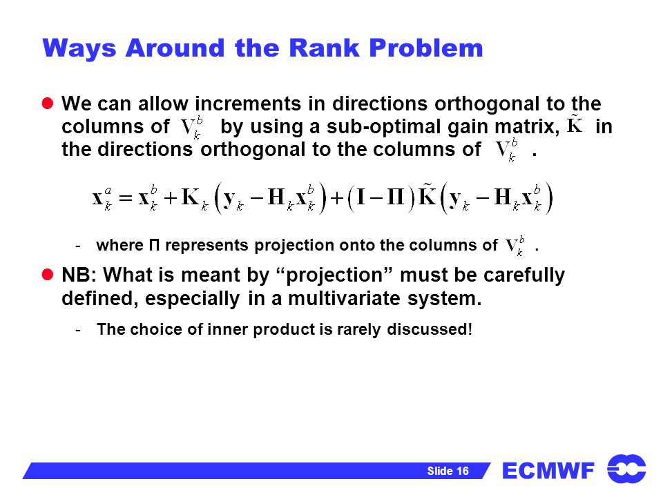 Ways Around the Rank Problem
