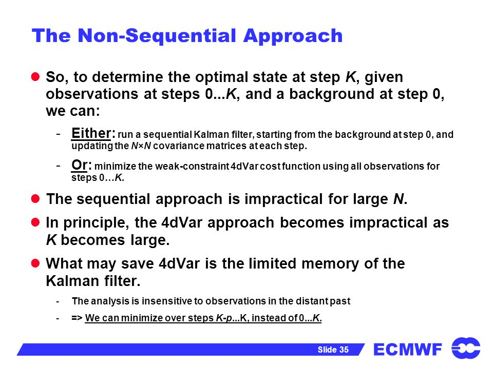 The Non-Sequential Approach