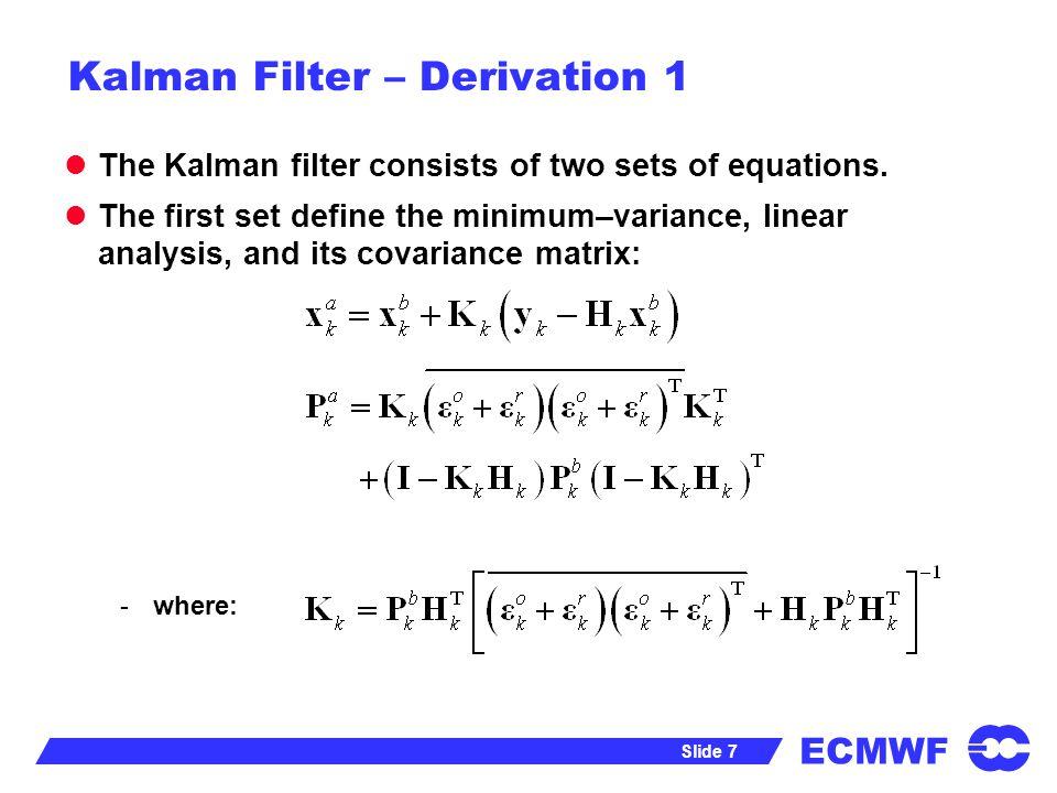 Kalman Filter – Derivation 1