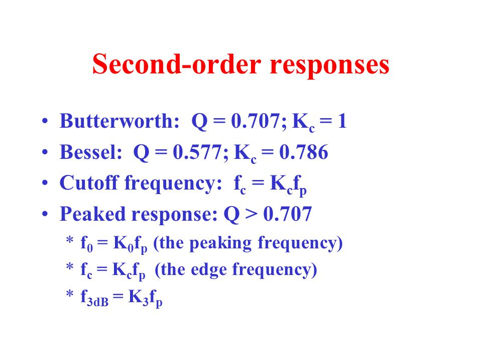 Second-order responses