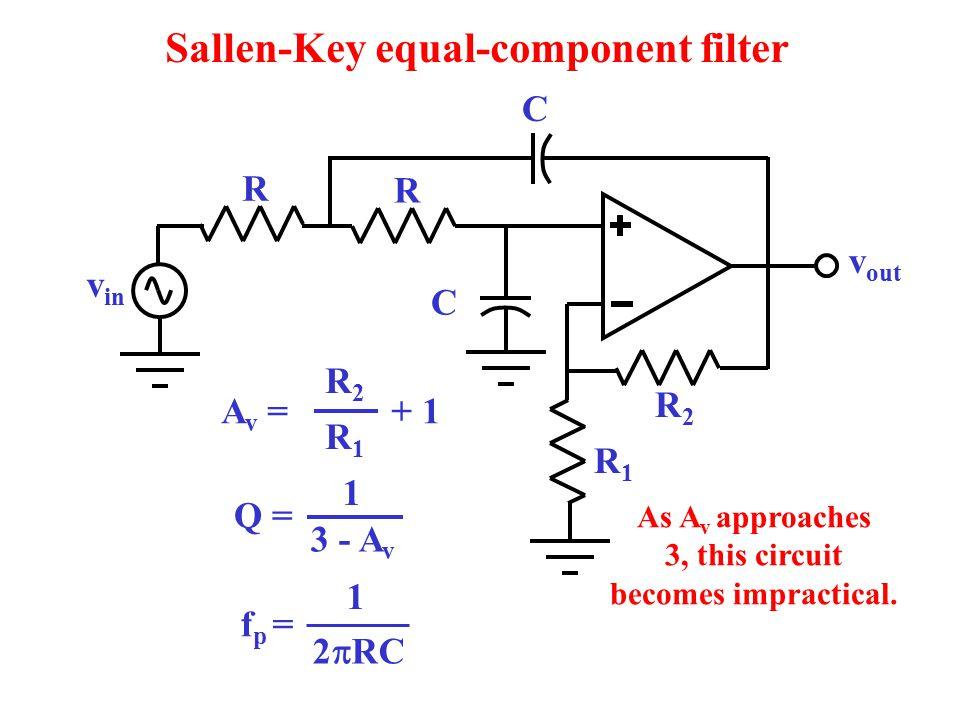 Sallen-Key equal-component filter
